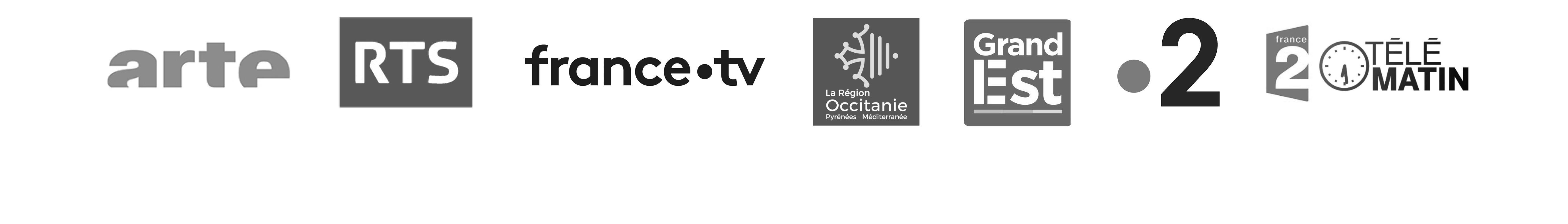 Chaînes de télévision locales, nationales et régions soutenant et diffusant les productions de Veo Productions